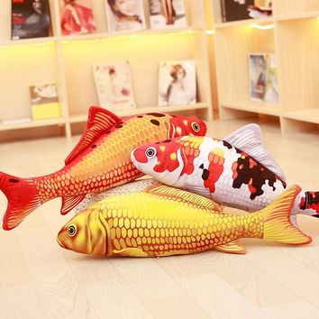 3D Simulation Carp Pillow Goldfish Cushion Stuffed Plush Fish Toy Carp Sleeping Pillow For Children Birthday Gift Christmas