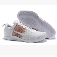 Men Kobe XI Weave Nike Basketball Grender Shoe Gradient White