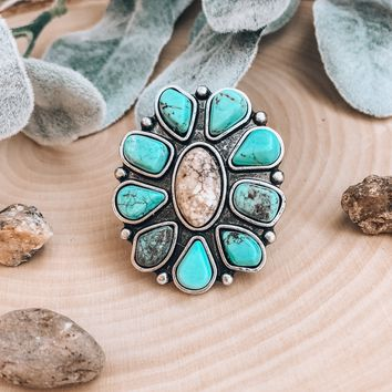 Starry Skies Turquoise Ring