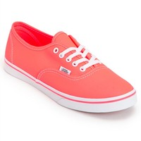 Vans Women's Authentic Lo Pro Neon Coral Shoes