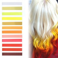 FLAMING HOT ombre flame hair color set of 12