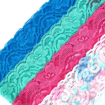 Stretchy Lace Headbands Hair Accessory Elastic Hairband Yoga Headband Blue Green Pink Tie Dyed Cute Teen Womens Gifts - Buy 2 Get 3rd Free