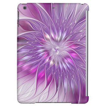 Pink Purple Flower Passion Abstract Fractal Art Case For iPad Air