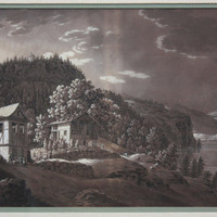 2 Grisaille Grand Tour Landscapes framed circa 1800