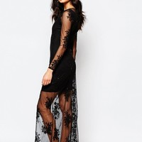 River Island | River Island Premium Sheer Embellished Maxi Dress at ASOS