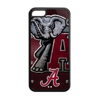 NCAA Alabama Crimson Tide Iphone 5C Case Cover University Team Logo Snap On Iphone 5C Cases