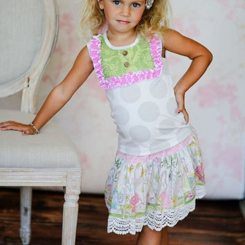 Giggle Moon Lilly of Valley Connie Skirt Set