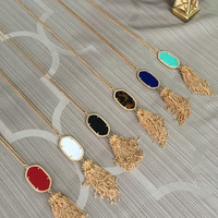 Kendra Scott Inspired Hand crafted Tassel Necklace