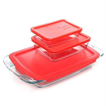 Rectangular Glass Roasting Dish Roaster - Microwave Dishwasher and Oven Safe