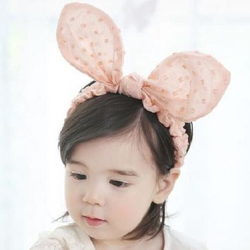 Bunny ears Wire Headband Little girls Hair band Kids Hair Accessories Easter Bunny Children Gift Newborn Photo Prop 1pc HB570