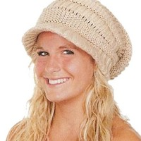 CTM® Womens Chunky Knit Slouchy Beanie Beret Hat