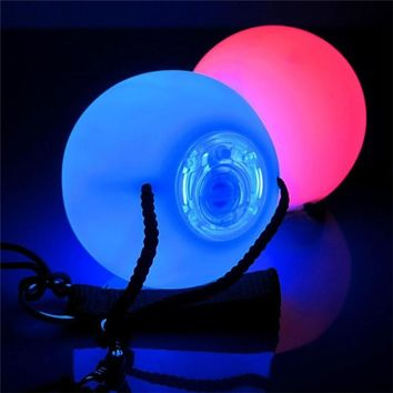 1pc Professional RGB LED Colorful Glow POI Thrown Balls Light Up For Belly Dance Level Hand Props Stage Performance Accessories