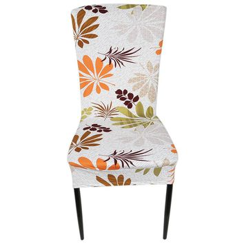 Printed Spandex Stretch Dining Chair Covers Restaurant Weddings Banquet Hotel Chair Covering Protector Slipcover Decor IC877066