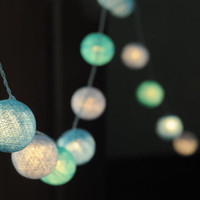 Light blue & Baby blue light lantern handmade 3 meter long string light hanging indoor wedding party gift bedroom home decor