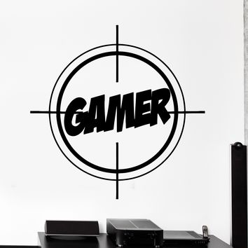 Wall Vinyl Decal Gamer Gaming Target Entertainment Home Interior Decor Unique Gift z4114