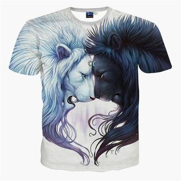 LMFUG7 2016 Newest galaxy space printed creative t shirt 3d men's t shirt summer novelty 3D f