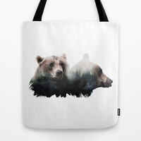 Bear Brothers Tote Bag by Cafelab