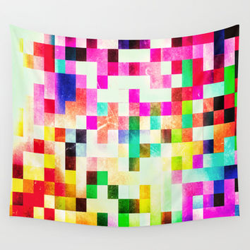 GROWN UP PIXELS Wall Tapestry by Chrisb Marquez