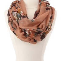 Floral Bouquet Infinity Scarf: Charlotte Russe