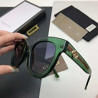 Gucci trendy men and women fashion delicate sunglasses