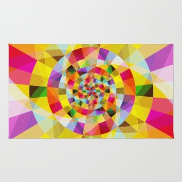 Colorful Abstract Swirly Tune Design (Fancy Fresh And Modern Hippy Style) Rug by Jeanette Rietz