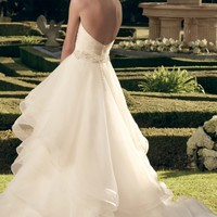 Embellished Sweetheart Layered Gown by Casablanca Bridal