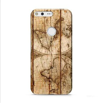 Old World Map Wood Google Pixel XL 2 Case