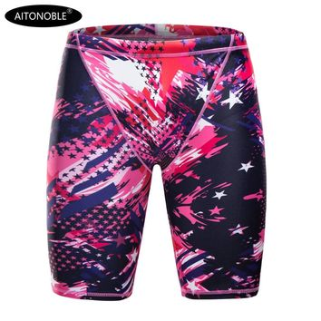 2019 AITONOBLE MEN'S JAMMERS MEN TRUNKS DIGITAL PRINT MEN BOXER SWIMMING TRUNKS QUICK DRY SWIMMING TURNKS MEN SWIMWEAR