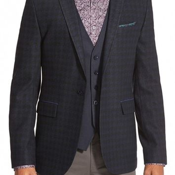 Men's Ted Baker London 'Kimball' Extra Trim Fit Houndstooth Sport Coat,