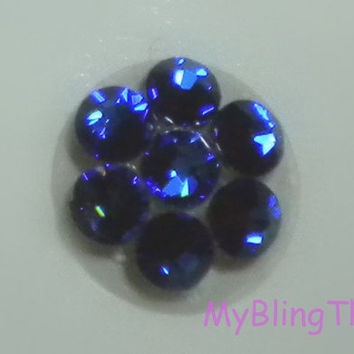 Crystal Bling Home Button Sticker for Apple iPhone 3GS 4 4S 5, iPad 2 3 4 Mini & iPod Touch All handmade w/ Swarovski Elements Meridian Blue