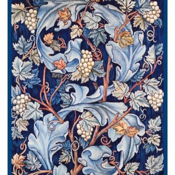 Acanthus Leaves and Grapes by William Morris Counted Cross Stitch or Counted Needlepoint Pattern
