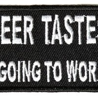 "Embroidered Iron On Patch - This Beer Tastes Like 4"" Patch"