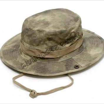 Men Women Camouflage Military Bonnie Hat Bucket Cap Camping Hunting Fishing Hiking Sun Cap Bonnie Hat