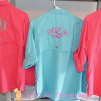 Women's Monogrammed Bahama Columbia PFG Fishing Shirt
