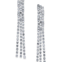 I.N.C. Silver-Tone Crystal Chain Linear Drop Earrings, Created for Macy's - Jewelry & Watches - Macy's