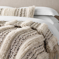 Moroccan Wedding Oversized Bed Throw - Striped