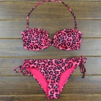 V collar sexy leopard bikini | Love beauty share beauty
