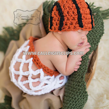 Slam Dunk Basketball Set - Hat and Net - Newborn photography prop