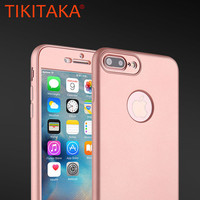 2017 New 360 Case Full Body Protection Capa For fundas iPhone 6 6S Plus Phone Cases Ultra thin Hard PC Front Capa Soft TPU Cover