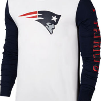 Men's Nike New England Patriots Nfl Championship Drive 2.0 Long-sleeve T-shirt | Finish Line