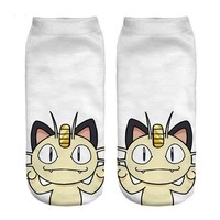 Meowth Ankle Socks