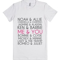 Adorable Love Couples Shirts-Female White T-Shirt
