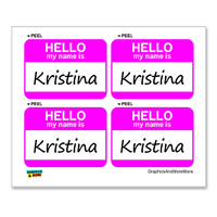 Kristina Hello My Name Is - Sheet of 4 Stickers