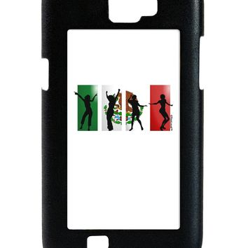 Mexican Flag - Dancing Silhouettes Galaxy Note 2 Case  by TooLoud