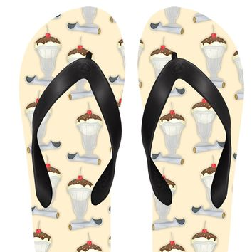 Ice Cream Sundaes Flip Flops
