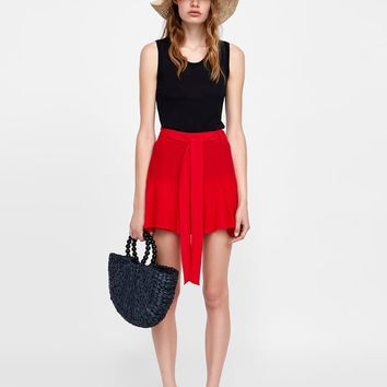 SKORTS WITH BELT - NEW IN-WOMAN | ZARA United States