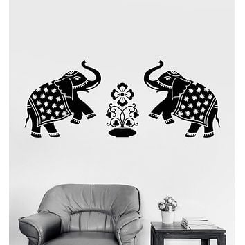 Vinyl Wall Decal Elephants India Animals Home Decoration Art Stickers Unique Gift (ig3217)