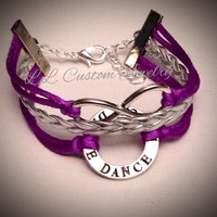 3 Strand/Multi-strand Infinity and Dance Affirmation Cord Bracelet w/out a Charm- Mom, Dance Shoes, Dance Word, Ballerina, Dancer