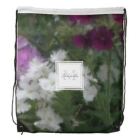 Monogram Purple And White Verbena Floral Backpack