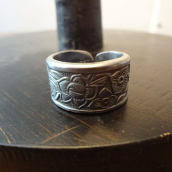 Wild Flower Spoon Ring Upcycled Repurposed by farmchicsophisticate